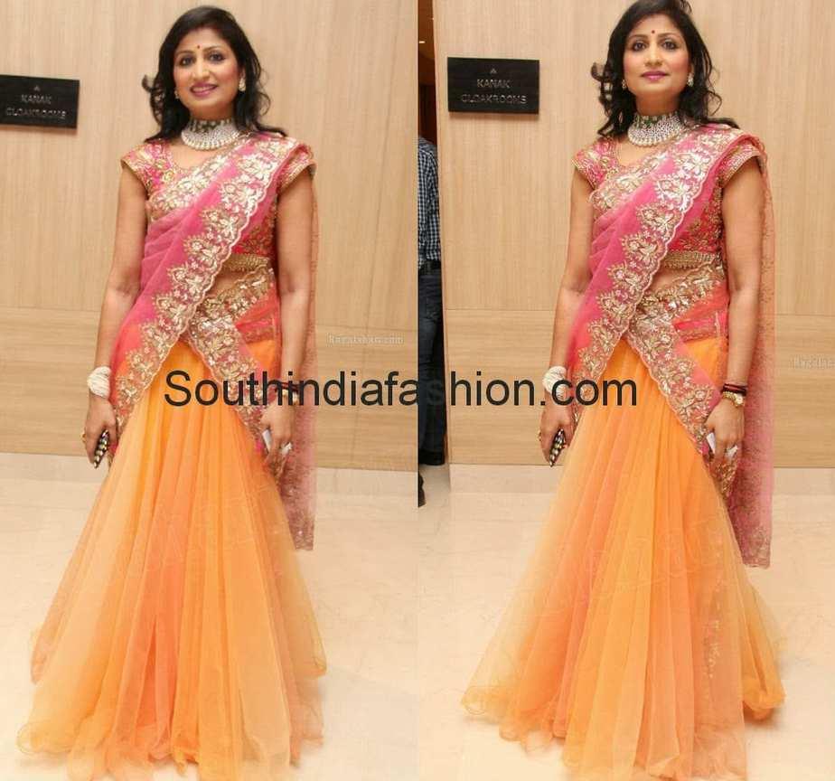 latest designer half sarees 2014