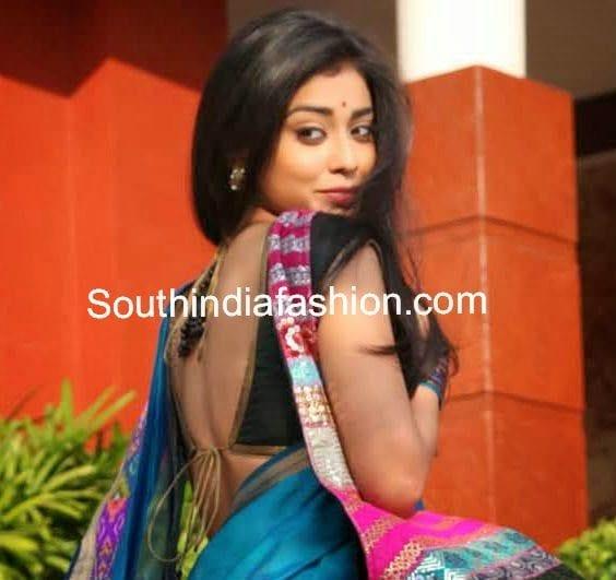 shriya saran blouse designs