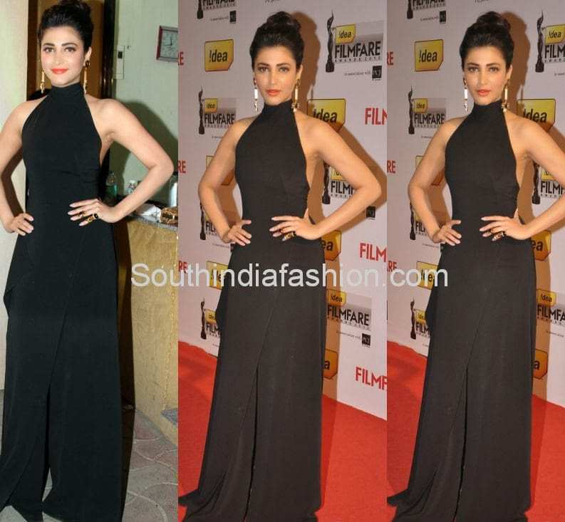 shruthi hassan long gown