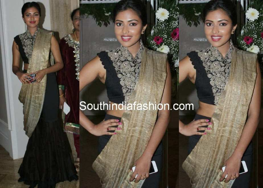 Amala Paul Latest Photos 2014 Actress Attended Vijay TV Anchor Ramyas Wedding
