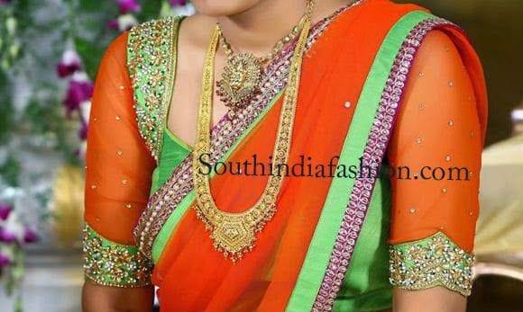 latest silk saree blouse designs 2014