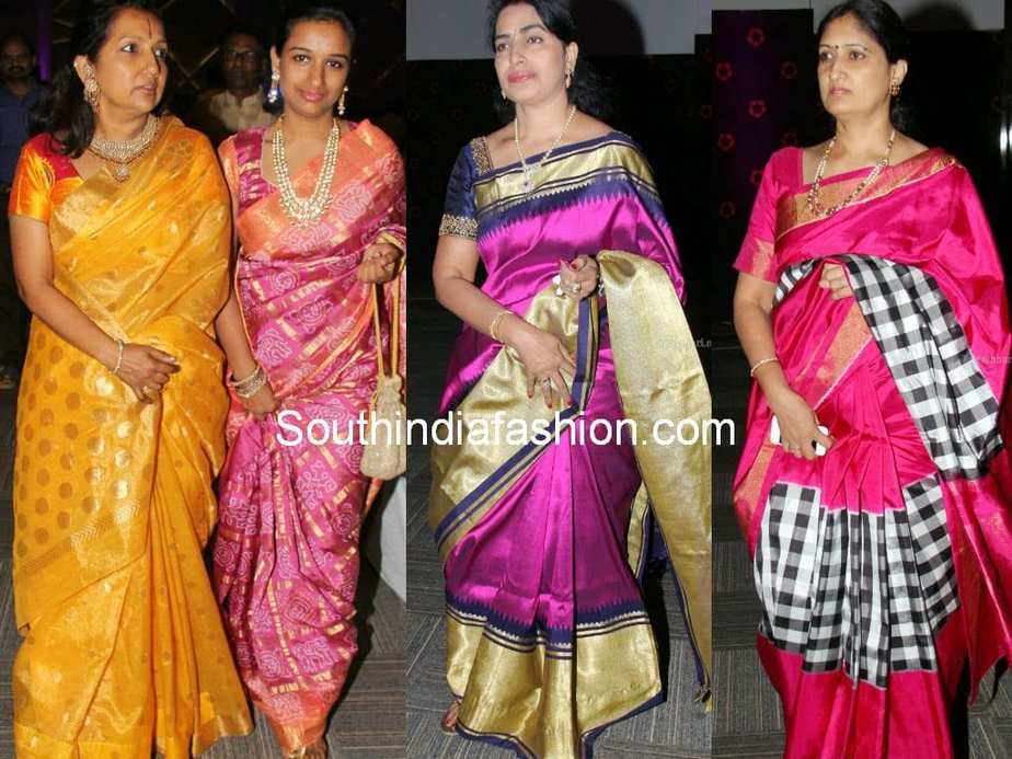 Celebrities In Bridal Silk Sarees South India Fashion