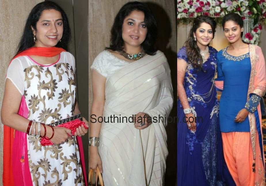 Suhasini Ramya Krishna At Anchor Wedding
