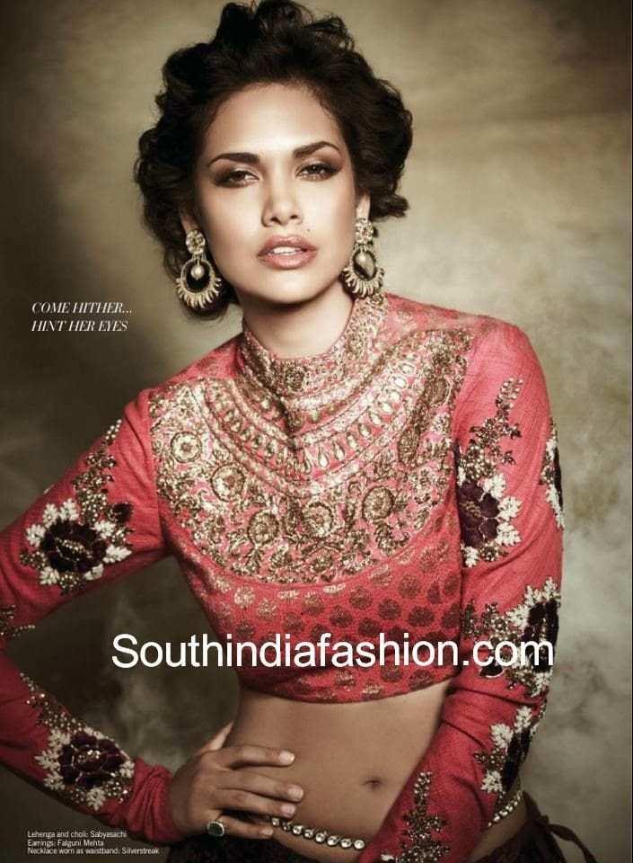 latest sabyasachi blouse designs 2014