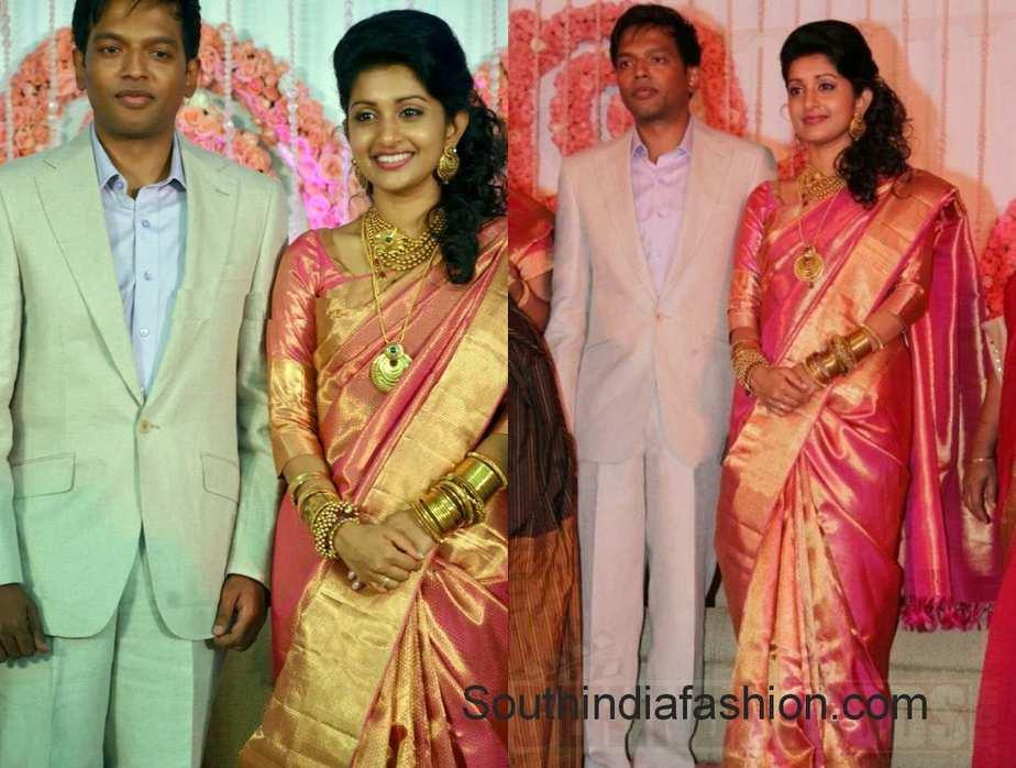 Meera Jasmine Anil John Wedding Reception