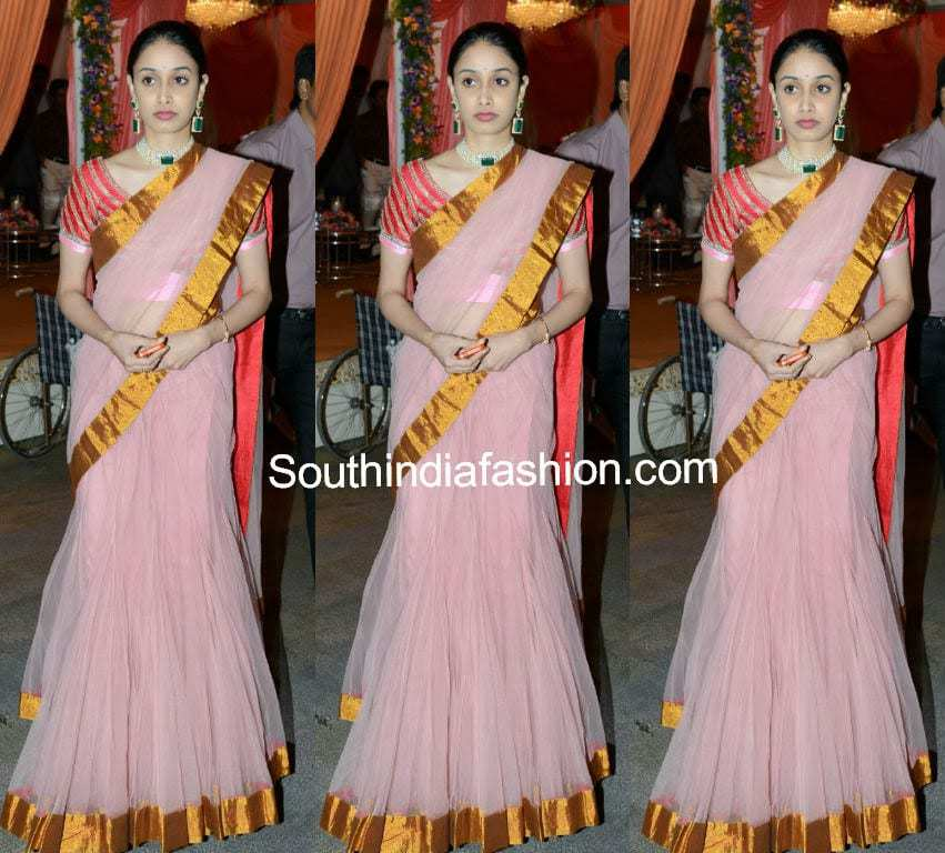 Celebrity In Lehenga Saree South India Fashion