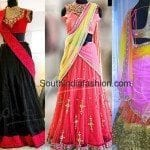 Trendy Bridal Half Sarees by Yaksi Boutique