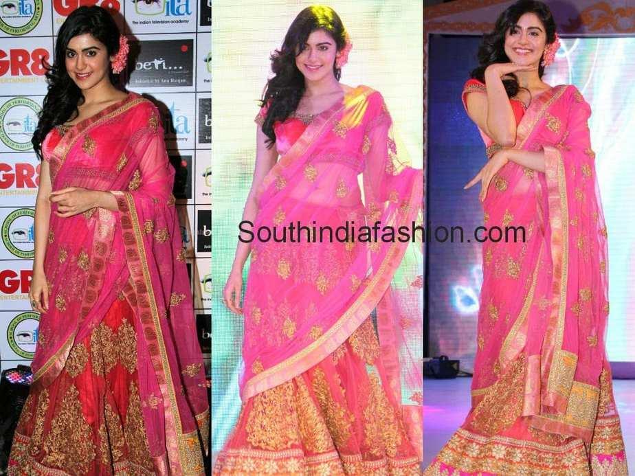 adah sharma in half saree