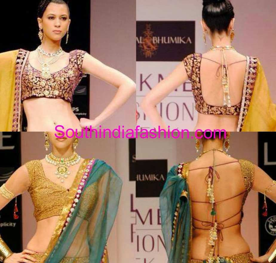blouse back neck designs by shyamal and bhumika