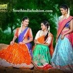 Splendid Bridal Half Sarees by Mugdha Art Studio