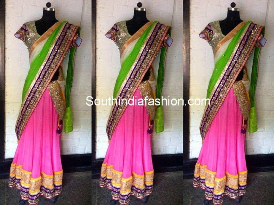 boutique half sarees