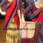 Half and Half Saree with Designer Blouse