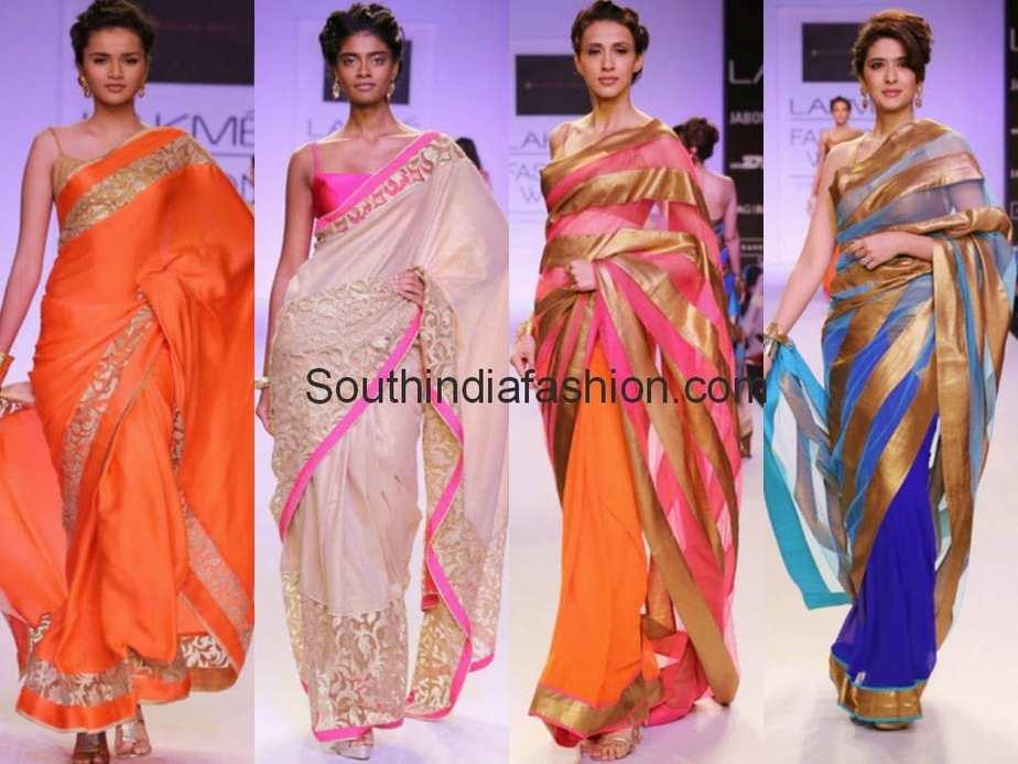 Mandira Bedi Sarees @ Lakme Fashion Week 2014 –South India ... Sabyasachi Lakme Fashion Week 2014