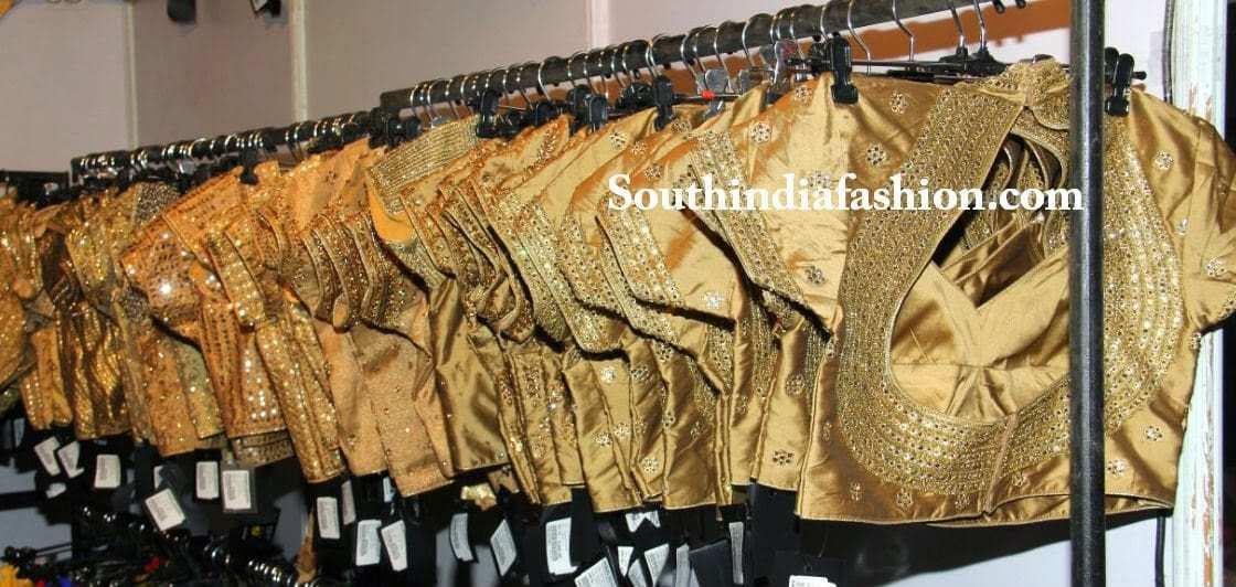 gold saree blouse
