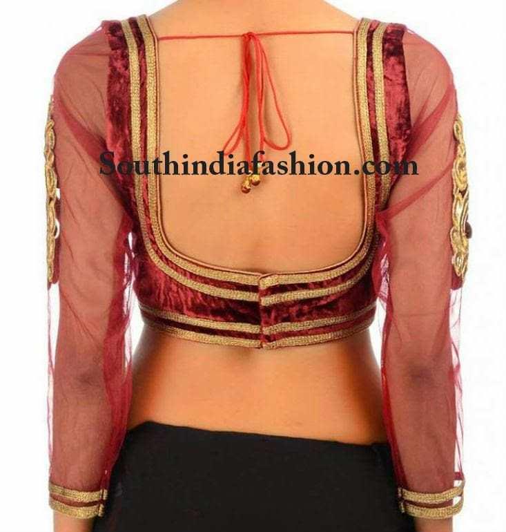 velvet blouse deisgns