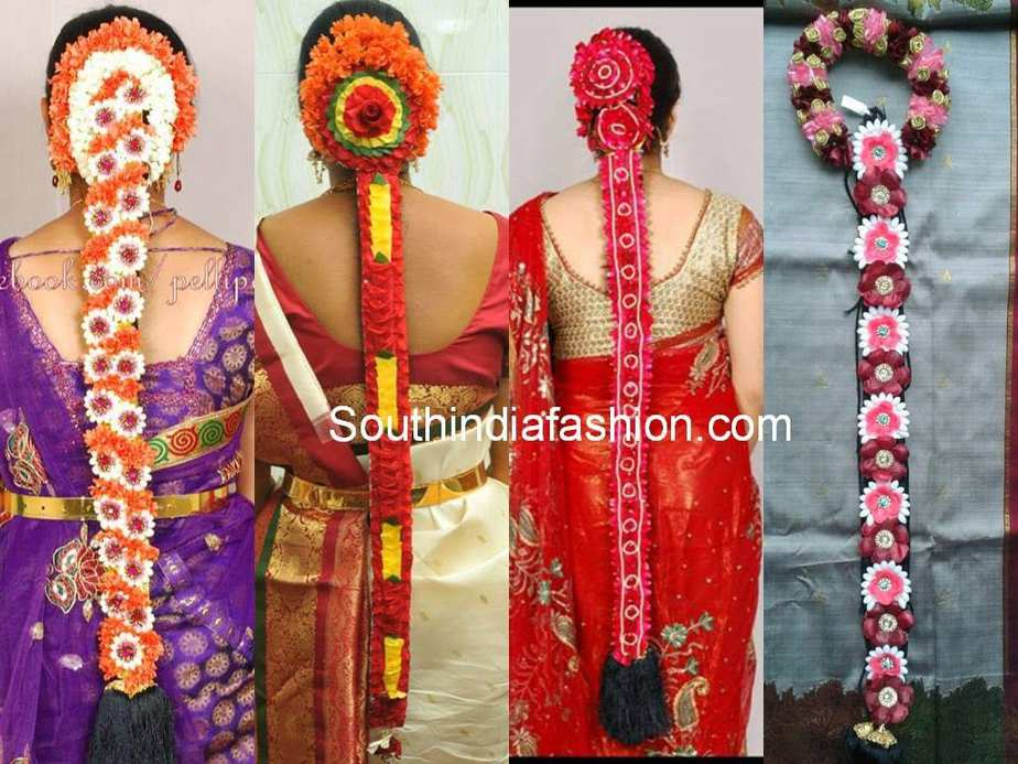 South Indian Floral Bridal Hair Styles South India Fashion