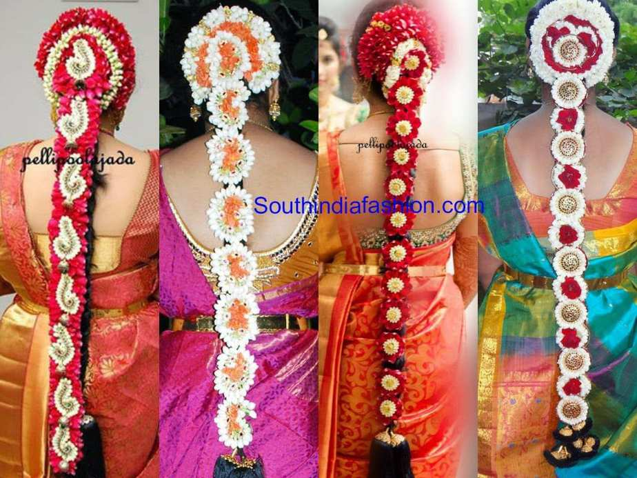 bridal hairstyles ~ fashion trends ~ • south india fashion