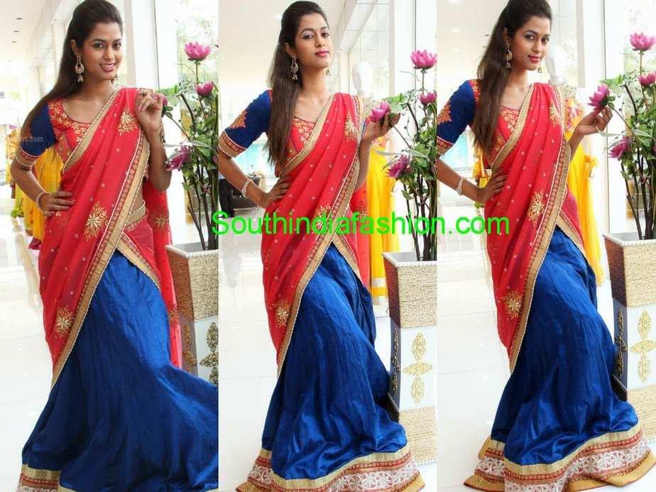 Ugadi Half Sarees Collection By Trisha Trends
