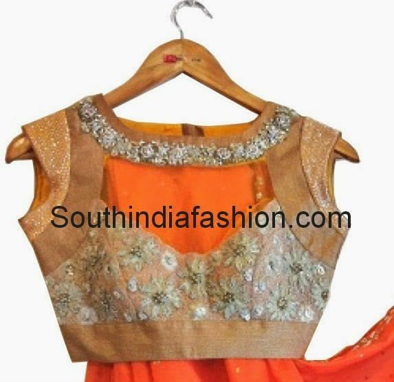 anjali sharma blouse designs