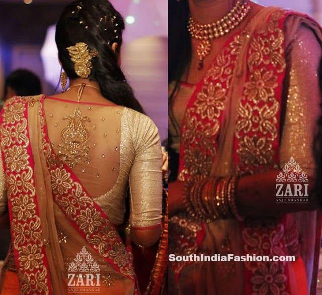 bridal saree blouse designs 2014