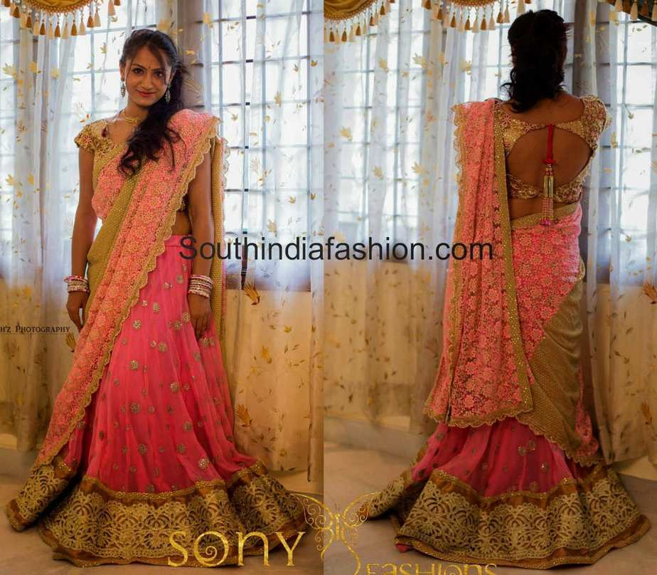 Bridal Half Saree By Sony Reddy South India Fashion