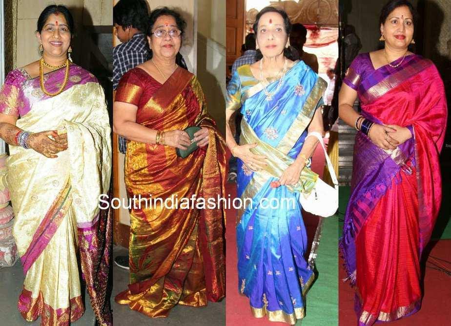 celebrity bridal silk sarees
