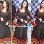 Charmi in Black Floor Length Anarkali