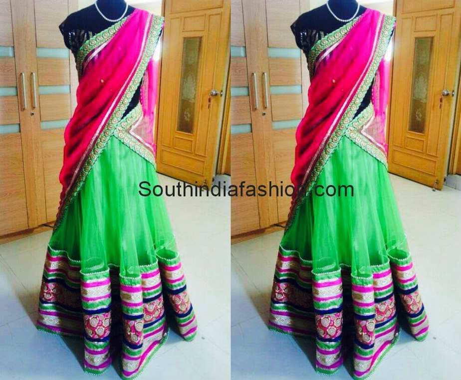 half sarees by tansi couture
