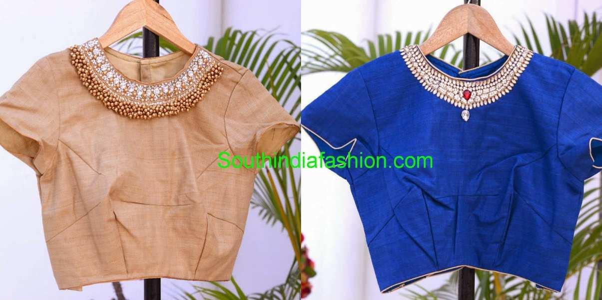 jeweled saree blouse designs
