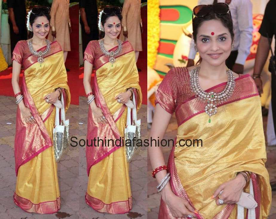 http://www.southindiafashion.com/wp-content/uploads/2014/04/madhubala_silk_sarees.jpg Madhubala Serial Golden Saree