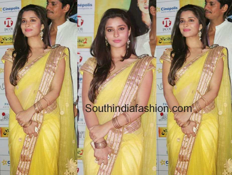 madhurima in yellow saree 2014