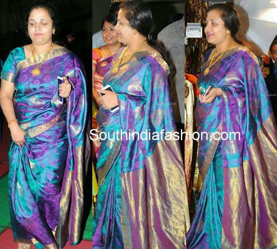 srikanth wife ooha silk saree