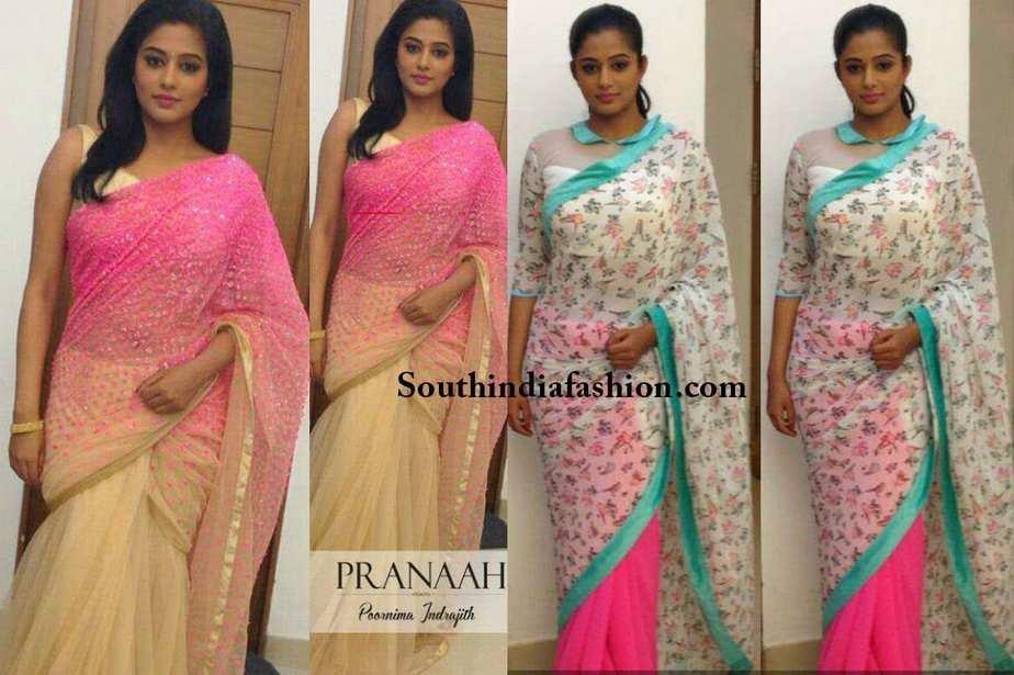 priyamani d4dance show sarees designer