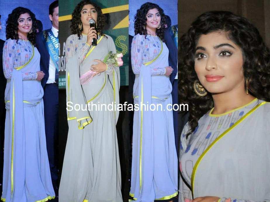 rima kallingal in satya paul drape