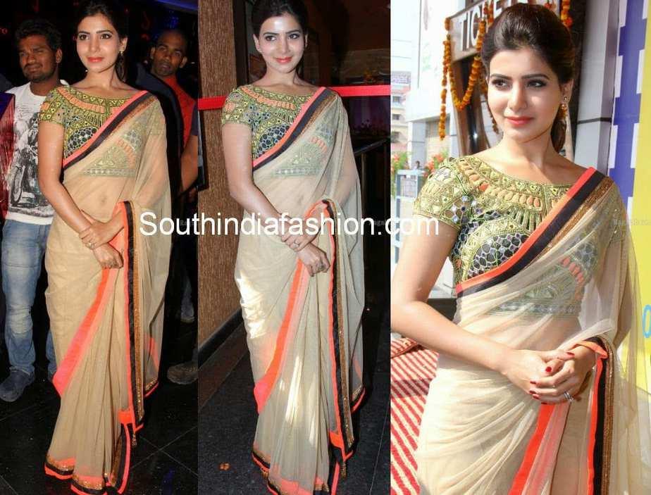 samantha latest sarees 2014
