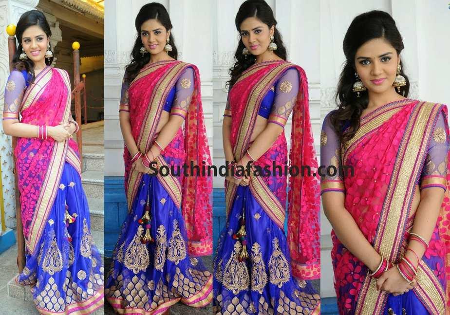 telugu actress half sarees