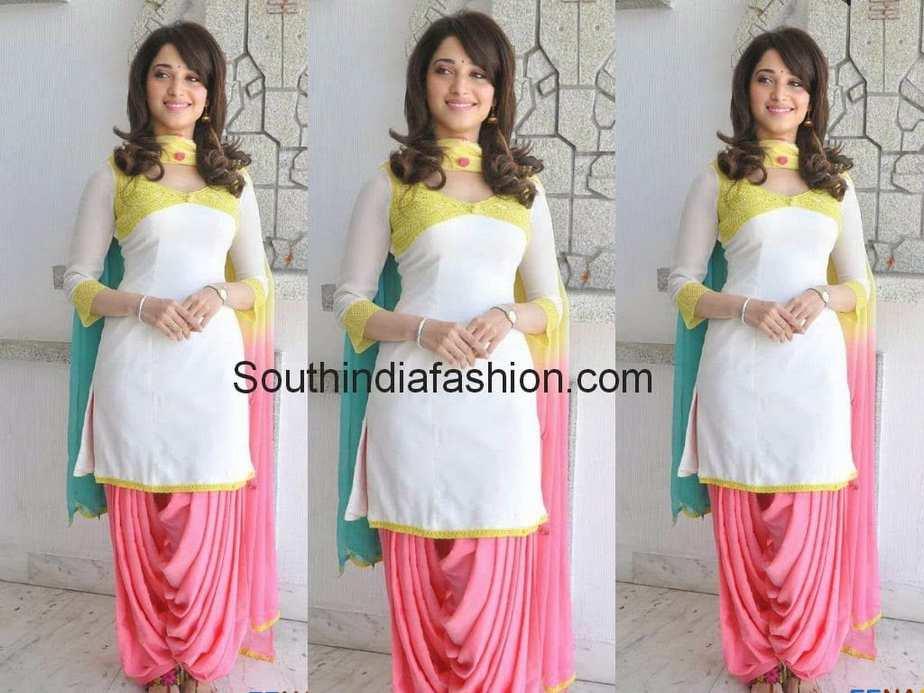Tamanna In Patiala Salwar South India Fashion