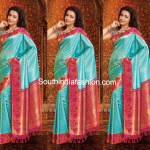 Trisha in Blue Kancheepuram Saree