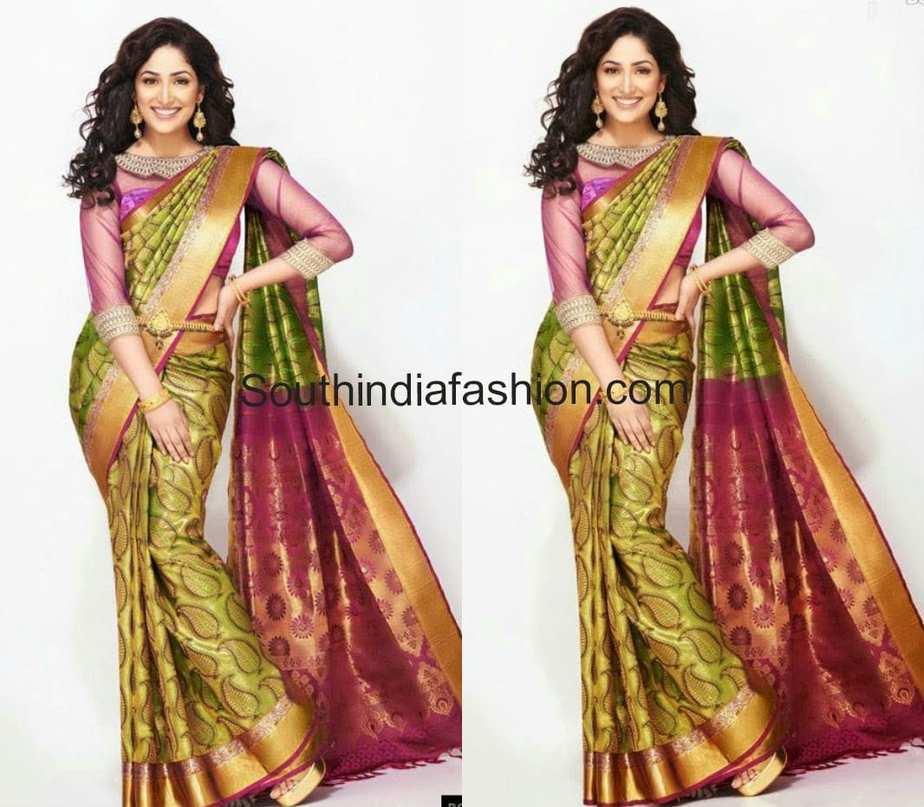 Yami Gautam In RS Brothers Bridal Saree –South India Fashion