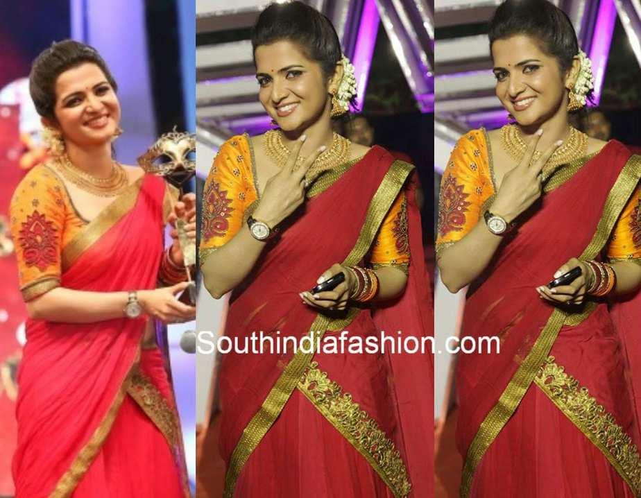 Anchor Dhivyadharshini Dd Navel Cleavage Show – Wonderful