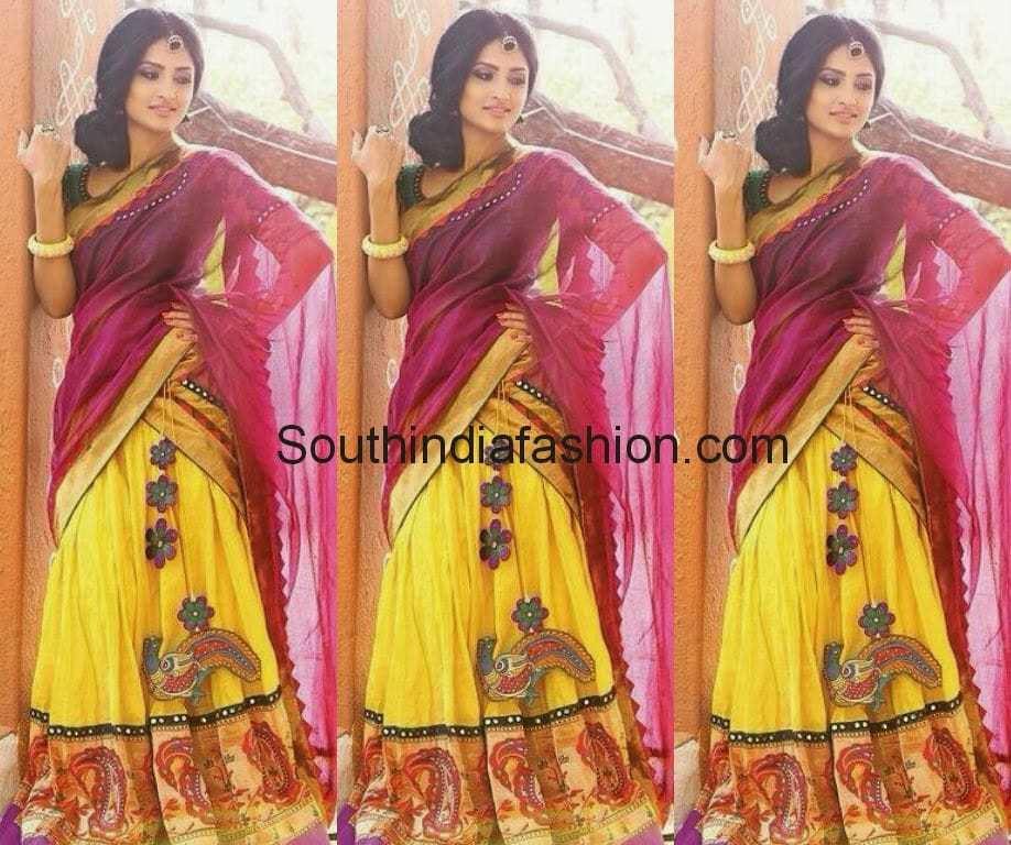 designer half saree by mamatha tulluri