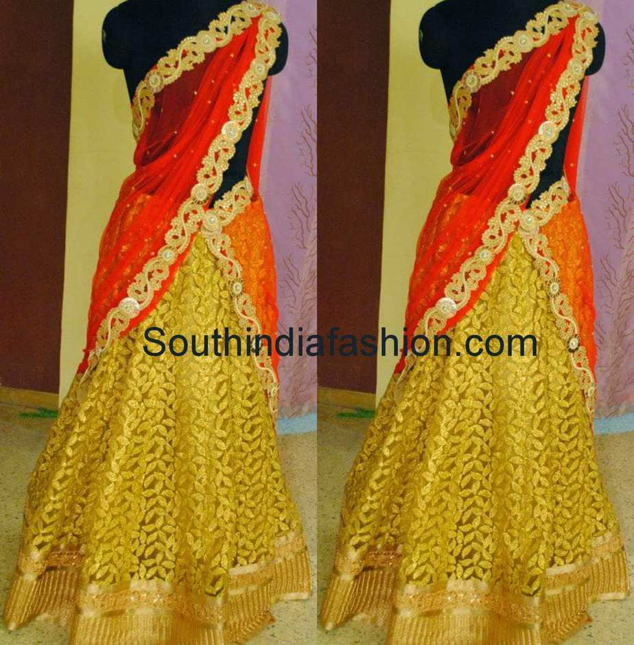 mugdha art studio half sarees