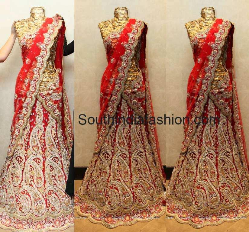 paisley design half saree