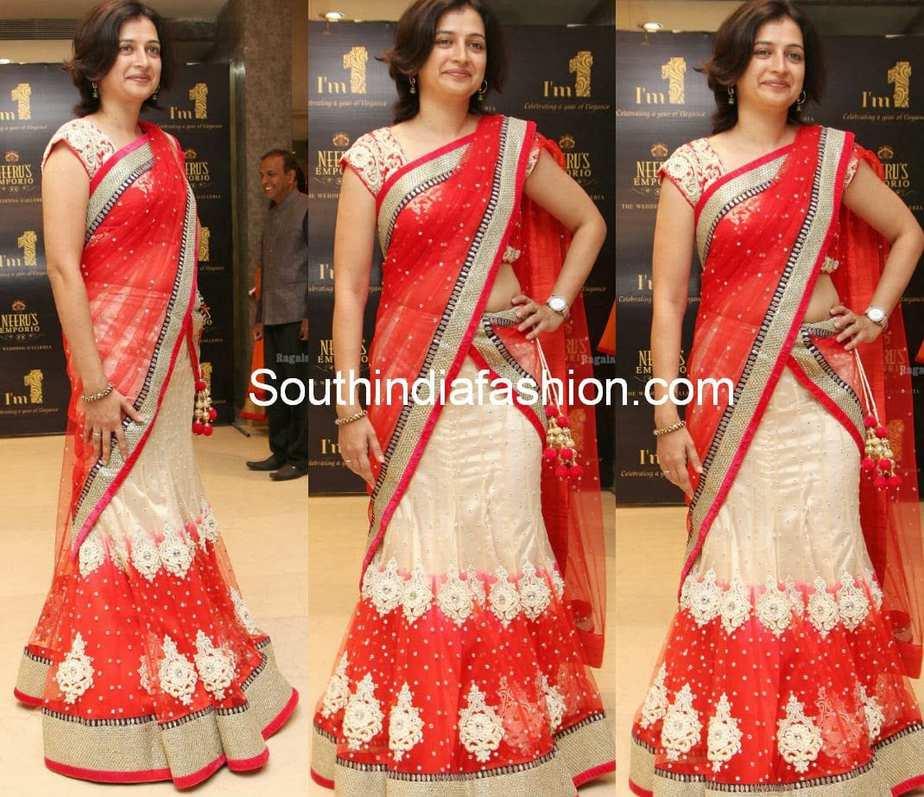 party wear half sarees