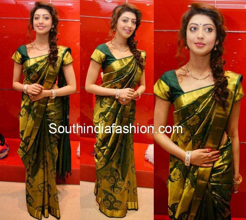 Pranitha In Uppada Silk Saree