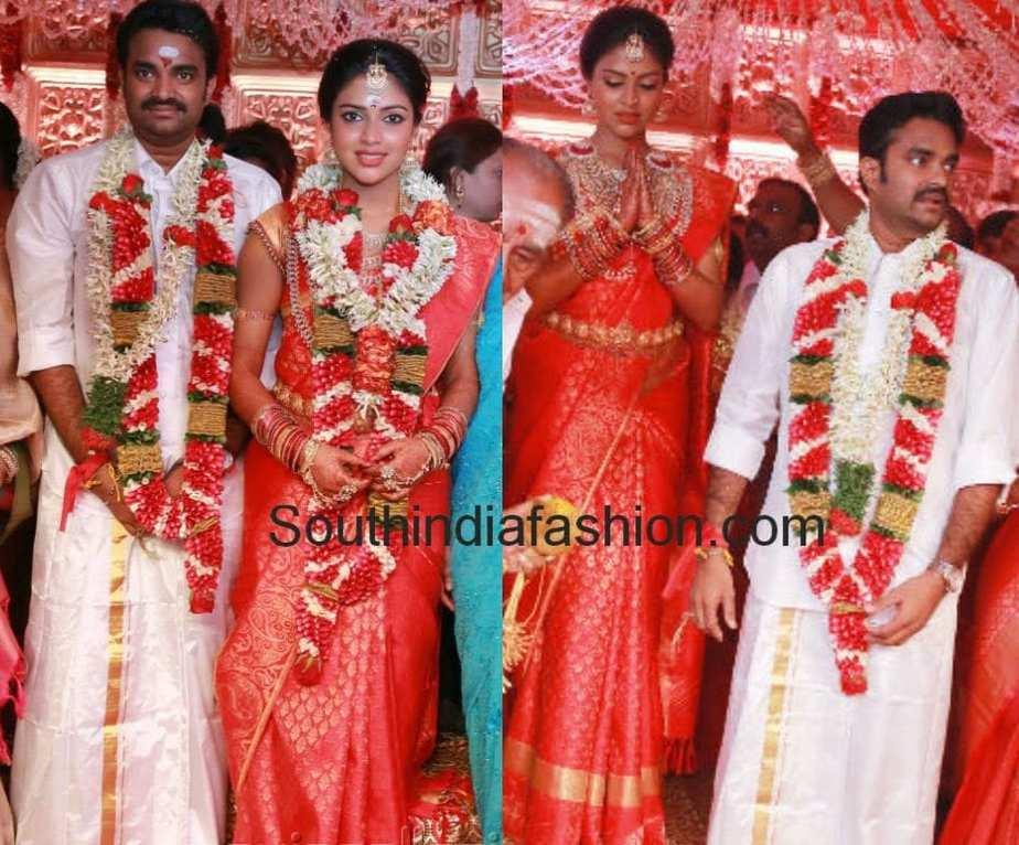 amala paul and director vijay wedding �south india fashion