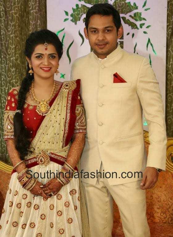 anchor divyadarshini wedding reception