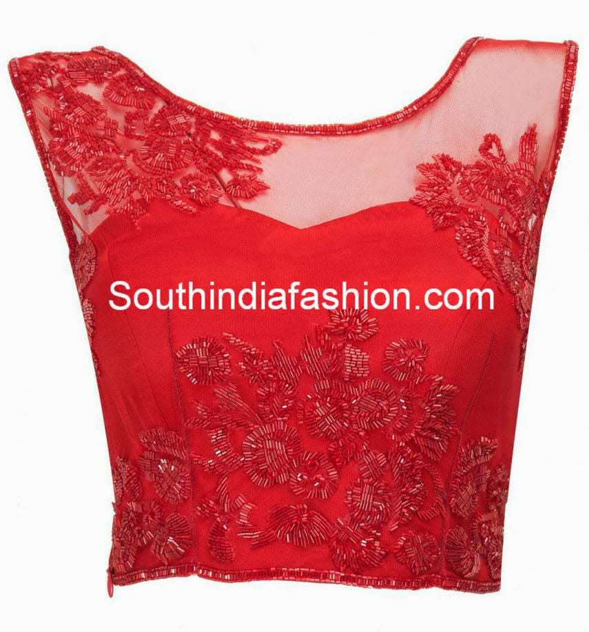 Cut Dana Work Blouse South India Fashion