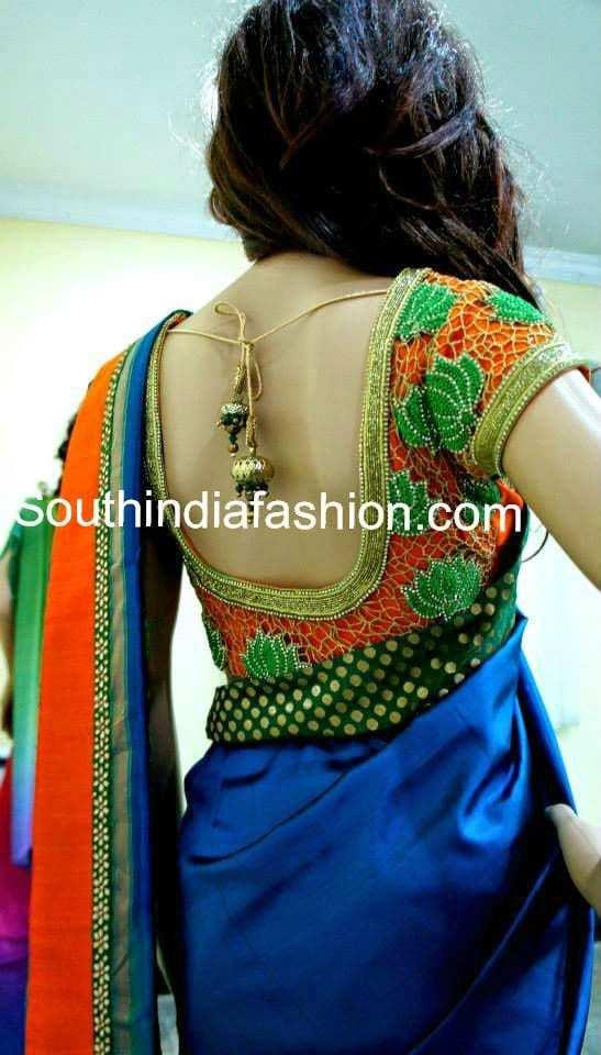 designer cut work blouse