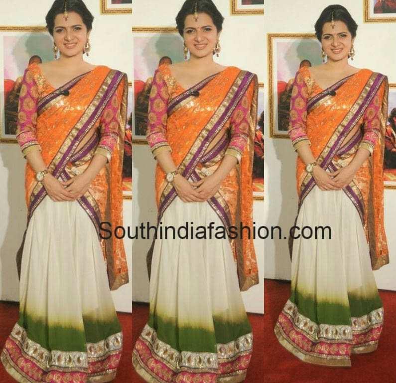 anchor divya darshini half sarees